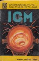 87716- IRON RECYCLING ENTERPRISE ADVERTISING, POCKET CALENDAR, 1970, ROMANIA - Calendarios