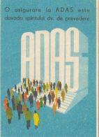 87717- INSURANCE COMPANY ADVERTISING, POCKET CALENDAR, 1970, ROMANIA - Calendarios