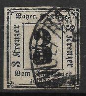 Bavaria 1862 Michel Nr 1 Used  Portomarken - Bayern