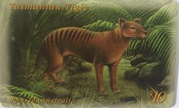 AUSTRALIE  -  Phonecard  -  Pay.Tel  -  Tasmanian Tiger  -  $ 10 - Australië