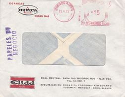 HUINCA, CORREAS. ARGENTINE ENVELOPPE CIRCULEE DE BUENOS AIRES, FRANQUEO MECANICO. AN 1973. -LILHU - Argentina