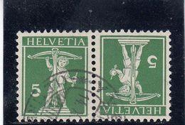Suisse - Tête Bêche - N°YT 136a  - Neuf** - Année 1910 - Tête-Bêche (omgekeerd)
