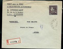 Doc. De  EUGIES - A A _ Du 07/12/65  - En Rec. - Marcophilie