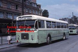 ReproductionPhotographie D'un Bus Brossel Ligne 2 Saint-Amand à Valenciennes En 1966 - Reproductions