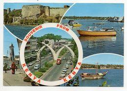 Kenya --1985--Souvenir De La Côte Kenyane--Multivues--timbre Fleur + Cachet Mombasa................à Saisir - Kenya