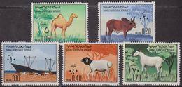 Animaux Domestques - SOMALIE - Dromadaire, Zébu, Chèvre, Bétail, Mouton - 1972 - N° 148 à 152 ** - Série Complète - Somalia (1960-...)