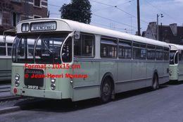 ReproductionPhotographie D'un Bus Brossel Leyland Ligne 1 à Valenciennes En 1966 - Reproductions