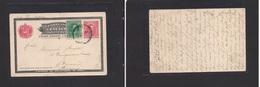 123gone. Venezuela - Cover - 1910 Pto Cabello To Bremen Germany 10c Stat Card+adtl Fine. Easy Deal. - Venezuela