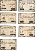 Domaines Nationaux Assignat De Cinq Livres. Assignat De 5 Créé Le 30 Avril 1792 - 7 Pieces (1) - Assignats