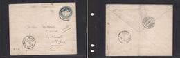 123gone. Egypt - Cover - 1906 Hilwan To Switz Ste Croix Stat Env. Easy Deal. - Egypte