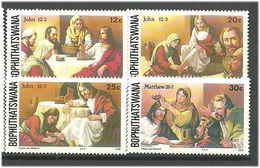 Bophuthatswana 1986 The Story Of The Suffering Of Jesus Christ (VII).. Mi 165-168  MNH(**) - Bophuthatswana