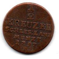 Brandenburg - Preussen   -  1/2  Kreuzer 1797 B -  état  TB - [ 1] …-1871 : Stati Tedeschi