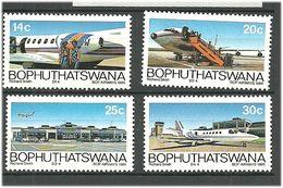 Bophuthatswana 1986 Five Years Of BOP Airways.. Mi 177-180  MNH(**) - Bophuthatswana