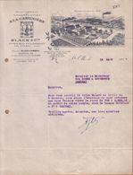 """NORD - STE , SAINTE OLLE - CHICOREE """" A LA CANTINIERE """" - BLACK & CIE - LETTRE - 1927 - 1900 – 1949"""
