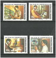 Bophuthatswana 1987 10 Years Of Independence: Communication. Mi 194-197 MNH(**) - Bophuthatswana