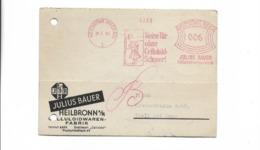 Karte Aus Heilbronn Nach Gbell 1940 - Germany