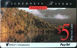 AUSTRALIE  -  Pay.Tel  -  Spirit Of Tasmania  -  Wilderness Rivers  -   $ 5 - Australië