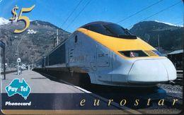AUSTRALIE  -  Pay.Tel  -  Phonecard  -   Eurostar  -  $ 5 - Australië