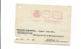 Karte Aus Hettenleidelheim Nach Augsburg 1936 - Germany