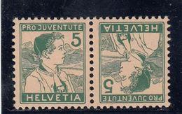 Suisse - Tête Bêche - N°YT 149a - Neuf** - Année 1915 - Pro Juventute - Kehrdrucke