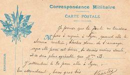 """CP- """" Correspondance  Militaire """"-  7 Drapeaux - - Storia Postale"""