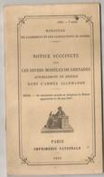 1918 MILITARIA  NOTICE SUCCINTE SUR LES DIVERS MODELES DE GRENADES ACTUELLEMENT DANS L'ARMEE ALLEMANDE - Français