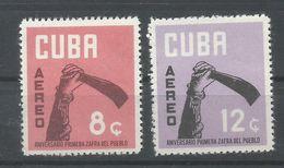 CUBA  YVERT  AEREO  237/38  MNH   ** - Poste Aérienne