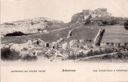 CPA, Athènes, Vue D'Acropole Et Aréopage - Grèce