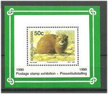 Bophuthatswana 1990 Mammals Mi Bloc 5 MNH(**) - Bophuthatswana