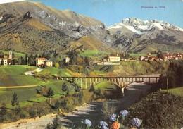 Cartolina Rovetta E Fino Ponte Su Fiume Valeggia 1951 - Bergamo