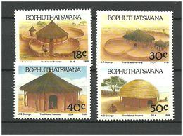 Bophuthatswana 1989 Traditional Houses. Mi 227-230 MNH(**) - Bophuthatswana