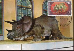 55092 Bulgaria, Maximum  1992, Triceratops    Prehistory - Préhistoire