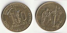 Pièce De 10 Francs CFA XOF 2013 Origine Côte D'Ivoire Afrique De L'Ouest - Côte-d'Ivoire