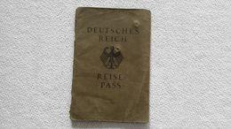 Deutsches Reich Reisepass 1933 Bielefeld  Ausweis Paß - Documenti