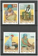 Bophuthatswana 1990 Traditional Consumer Goods Manufacturing. Mi 248-251 MNH(**) - Bophuthatswana