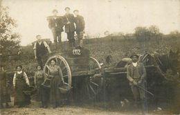 SUPERBE CARTE PHOTO DE VENDANGE Animée En 1912 - Professions