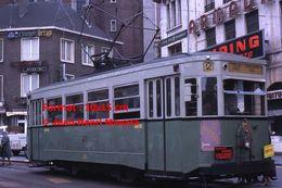 ReproductionPhotographie D'un Tramway Urbain Ligne 2 à Charleroi En Belgique En 1966 - Reproductions