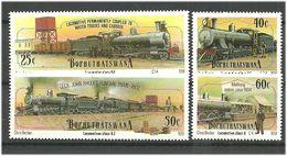 Bophuthatswana 1991 Trains, Railway, Locomotives. Mi 265-268 MNH(**) - Bophuthatswana