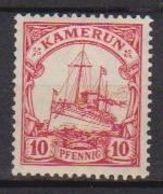 GERMANIA REICH COLONIA CAMERUN 1905-14  FRANCOBOLLI GERMANIA NAVI DENT.14 FILIG.LOSANGHE YVERT.21 MLH VF - Kolonie: Kamerun