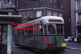 ReproductionPhotographie D'un Tramway Urbain Ligne 9 Loverval Jumet à Charleroi En Belgique En 1966 - Reproductions