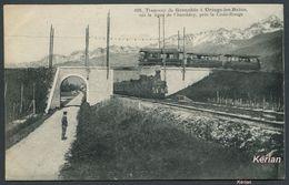 Uriage-les-Bains Tramway De Grenoble Sur La Ligne De Chambéry Près La Croix-Rouge - Cliché A. V. - Voir 2 Scans - Uriage