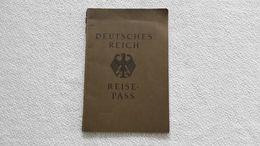 Deutsches Reich Reisepass 1933 Hergarten Ausweis Paß - Documents