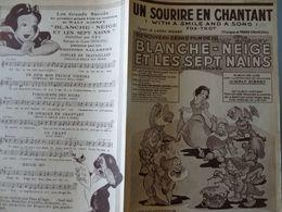 Partition Ancienne Un Sourire En Chantant 1938 Blanche Neige Et Les 7 Nains Walt Disney - Scores & Partitions