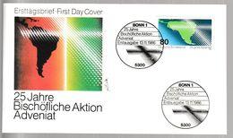 MB 3727) BRD 1986 Mi# 1302 FDC Bonn: 25 Jahre Sammelaktion Adveniat, Südamerika - Stamps