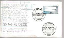 MB 3726) BRD 1986 Mi# 1294 FDC Bonn: 25 Jahre OECD, Wirtschaft Zusammenarbeit - Stamps