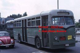 ReproductionPhotographie D'un Bus Urbain Près D'une VW Coccinelle à Charleroi En Belgique En 1966 - Reproductions