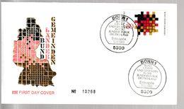 MB 3723) BRD 1983 Mi# 1194 FDC Bonn: Demokratie, Flechtwerk Bund Länder Gemeinde - Stamps
