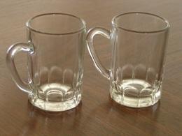 VERRES ANCIENS PETITES CHOPES A LIQUEUR LOT DE 2 - Glass & Crystal
