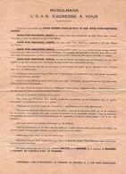 TRACT #15 GUERRE ALGERIE PROPAGANDE OAS - Documents