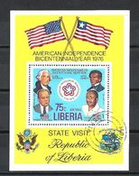 Célébrités Liberia 1976 (31) Bloc Yvert N° 82 Oblitérés Used - George Washington